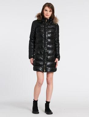Hooded slim-fit duvet jacket