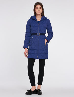Slim-fit duvet jacket with belt