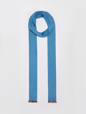 Skinny silk scarf