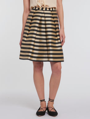 Striped duchess skirt