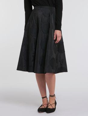 Fil coupé taffeta skirt