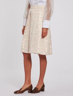 Geometric lamé jacquard skirt