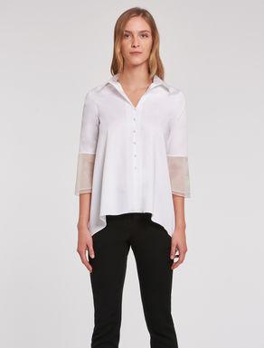 Cotton and organza shirt
