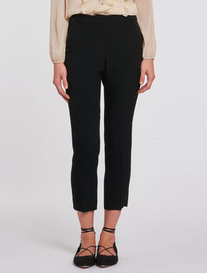 Slim-fit trousers in envers satin