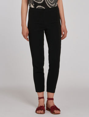 Slim-fit cady trousers