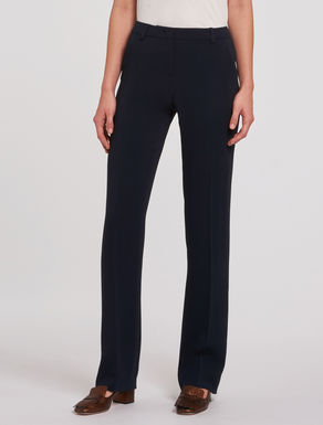 Straight-fit cady trousers