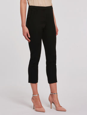 Pantaloni cropped slim in faille