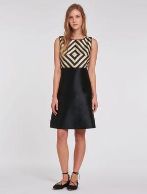 Fit & flare duchess dress