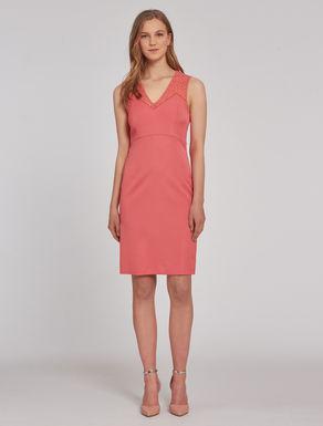 Faille and macramé dress