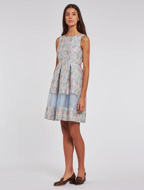 3D jacquard dress with organza
