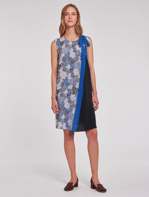 Dress in colour-block silk