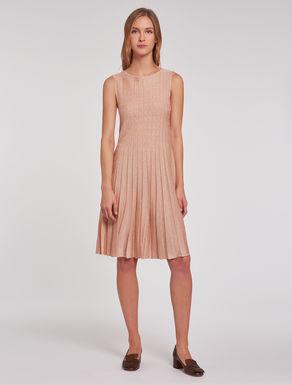 Lamé knit dress