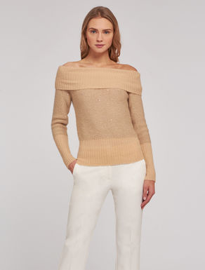 Sweater with micro-sequins