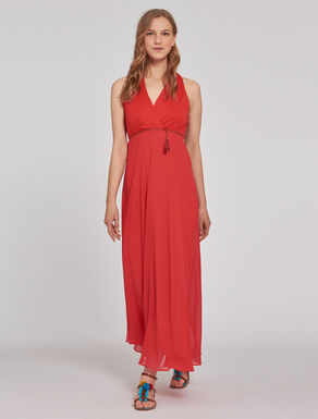 Georgette and jersey dress