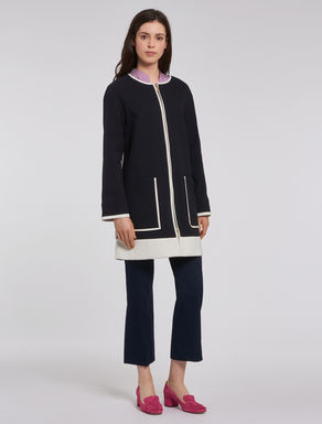 Overcoat with contrasting edging