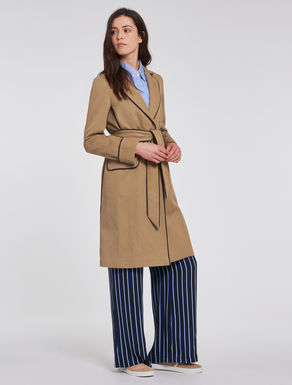 Cotton/linen twill trench