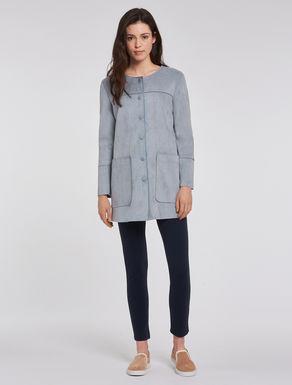 Velvety jersey overcoat