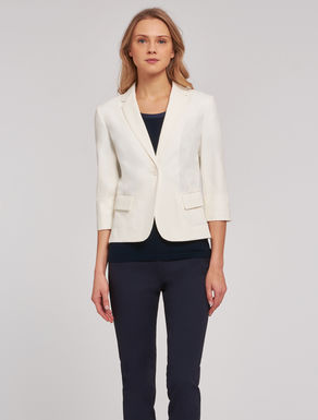 Cotton tricotine blazer