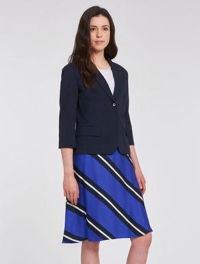 Cotton tricotine blazer