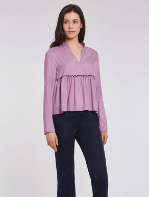Striped habotai blouse