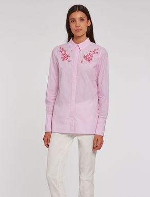 Camicia in cotone ricamato
