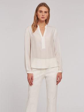 Blusa in seta a micro-texture