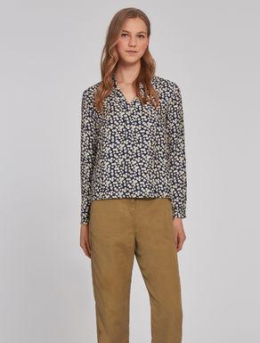 Silk micro-texture blouse