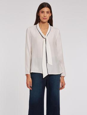 Camicia in seta a micro-texture