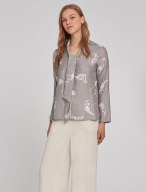 Micro-texture silk shirt