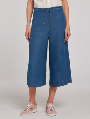 Culotte pants in denim soft