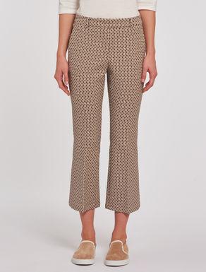 Jacquard kick-flare trousers