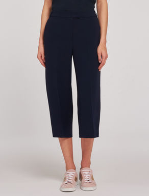 Cropped floaty cady trousers