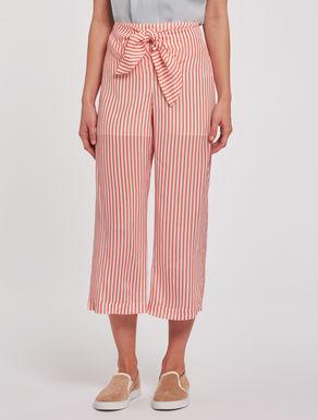Crêpe de chine sarong trousers
