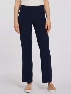 Straight-fit fluid trousers