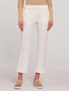 Pantaloni cropped in tricotina