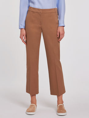 Cropped tricotine trousers