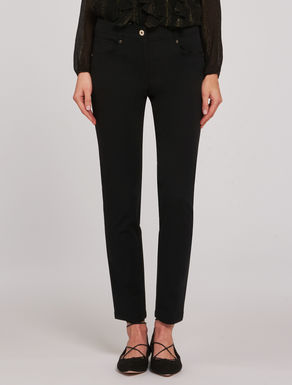 Skinny tricotine trousers