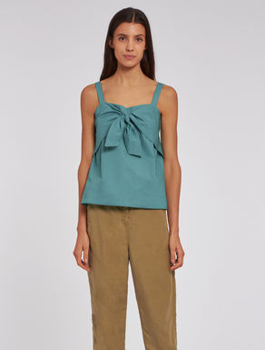 Poplin top with knot