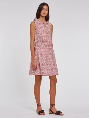 Printed poplin dress