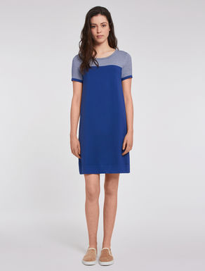 Lamé jacquard knit dress