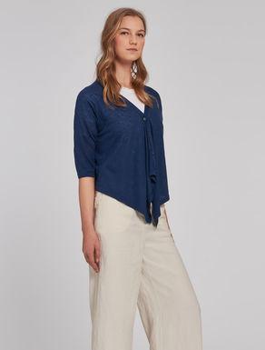 Linen/silk cardigan