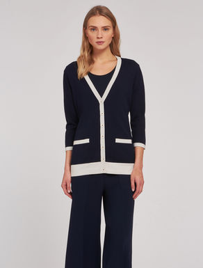 Silk/cotton cardigan
