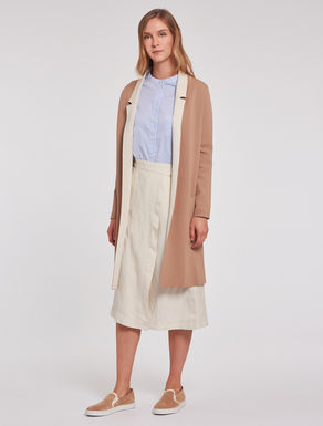 Overcoat in two-tone knit