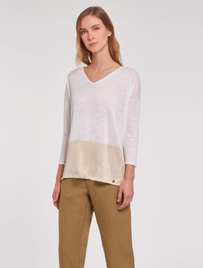 Thin linen/silk sweater