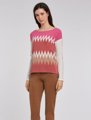 Chevron cotton sweater