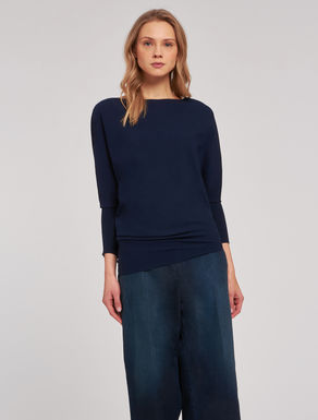 Asymmetric batwing sweater