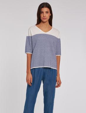 Lamé jacquard sweater