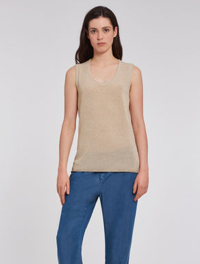 Lamé knit top