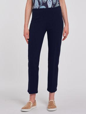 Slim trousers in ottoman jersey
