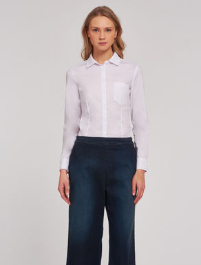 Camicia slim in popeline stretch